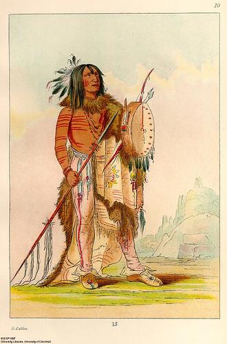 011-Bufalo Blanco un viejo curandero-George Catlin 1841
