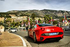 Ferrari California and Lamborghini parked in front of Hotel the Paris (Martijn Kapper) Tags: california paris place sony ferrari du casino montecarlo monaco carlo monte alpha lamborghini martijn hdr a100 roadster kapper transaxle lp640 fakehdr carspotter autogespot autospotten