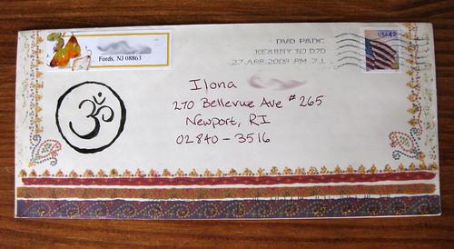 Om glitter envelope