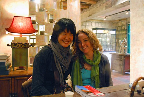 me and k at the jiufen teahouse