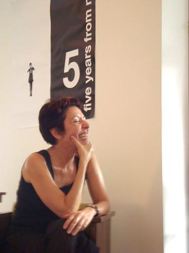 """Beia Carvalho curtindo o sucesso de seu primeiro workshop """"Let's Network Together pra Bombar nossos Negócios""""."""
