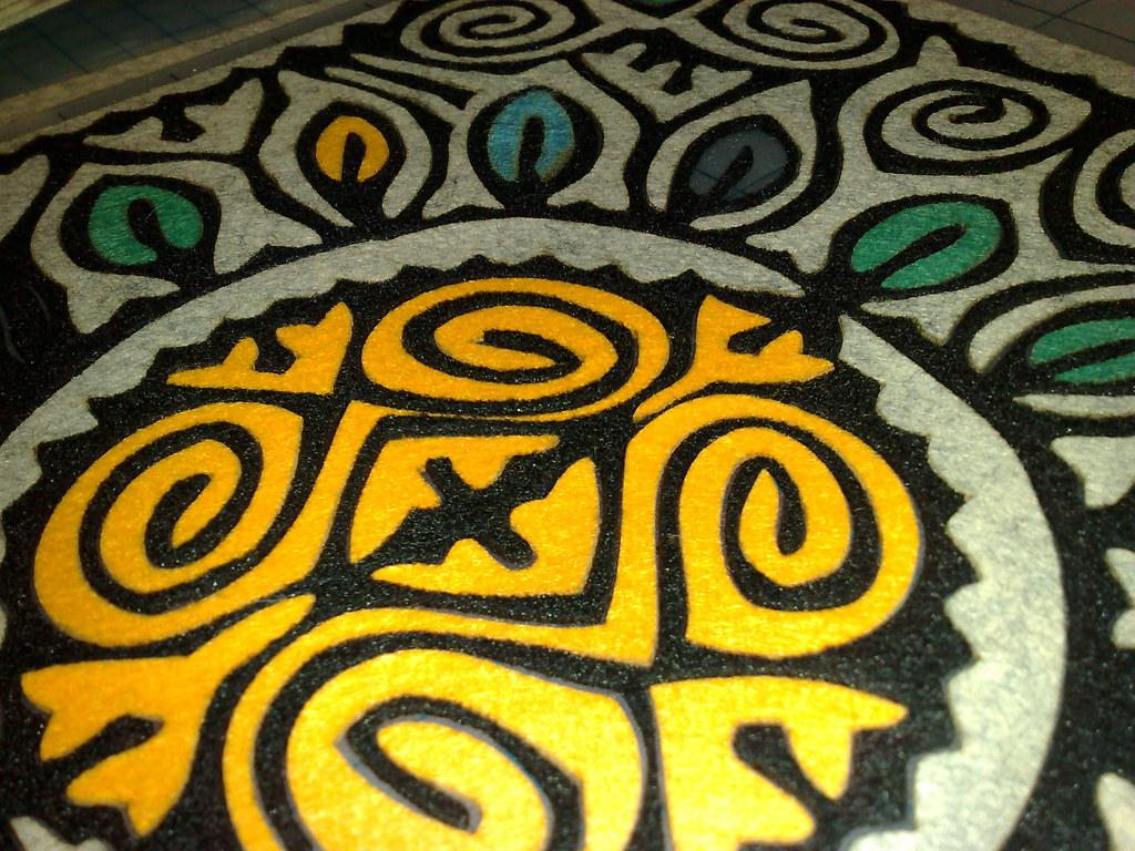 Felt mosaic