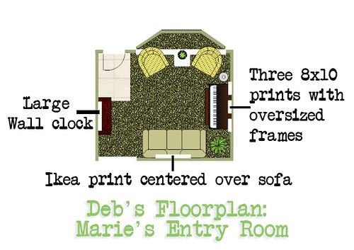Marie's Entry Floorplan