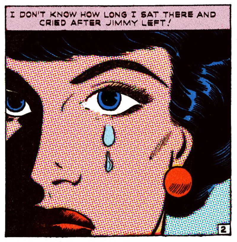 Pop art comic girl crying tumblr