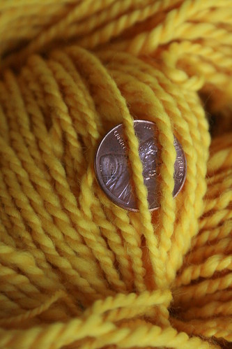 Yellow Merino Detail