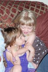 Catie & Elizabeth hugging
