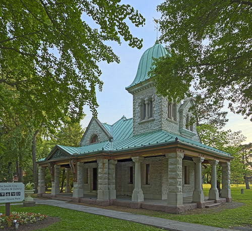 Tower Grove Park, in Saint Louis, Missouri, USA - south gate lodge