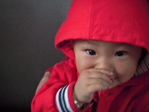 On the train - little kid