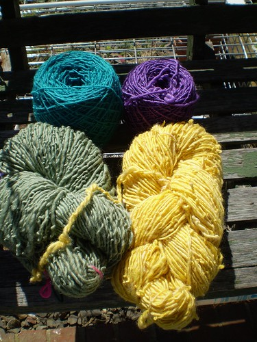 Sparkling Handspun Yarns from Wild Iris Wool