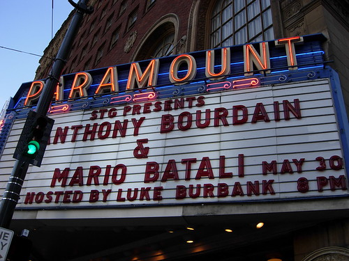 Bourdain Batali at the Paramount