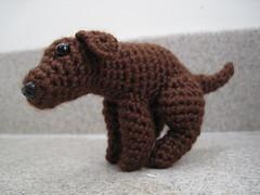 Pooping Dog (spsandsteel) Tags: dog puppy crochet dump poop poo amigurumi feces pooping defacating
