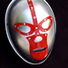 silver luchador mask by Lockwasher