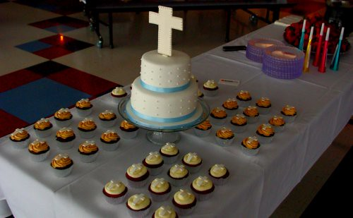 First Communion Cake & Cupcakes