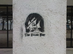 The Pirate Bay in Makarska, Croatia (jakobinac) Tags: beach graffiti croatia pirate makarska piratebay