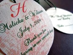 malicka & wilson's wedding