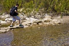 hip-woop-eh-huh-skip-ha-hehp...ah-hah (Jacob K. Cunningham) Tags: ca friends usa dog mike nature water animals waterfall outdoor hike backpacking ojai dayhike