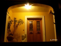 Artistic house entrance in kifisia (g_athens [swaping]) Tags: door light house night artistic entrance athens greece   kifisia