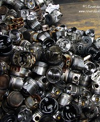 A whole lot of... (sjoerd_reverda) Tags: trash parts engine can motor pistons vege the motoren onderdelen zuigers