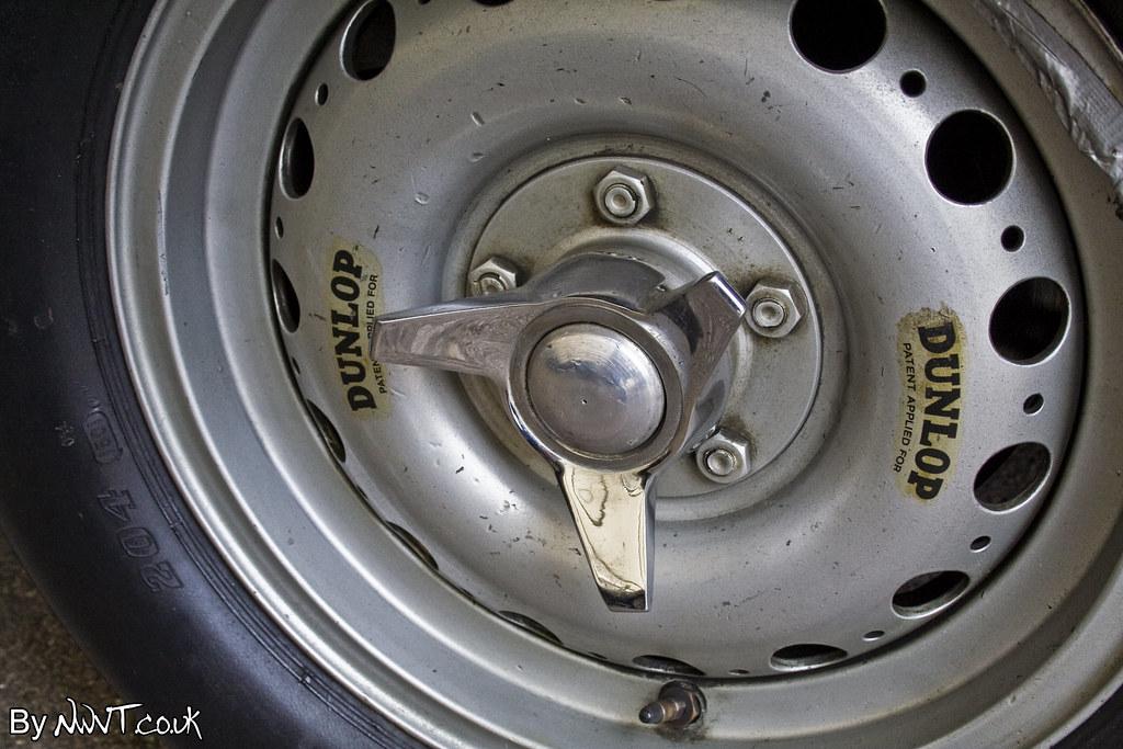 Dunlop Race Wheel On A Historic Jaguar