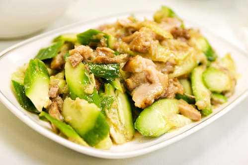 cucumber with PORK HEAD
