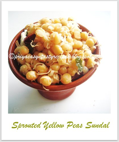 Sprouted Yellow peas Sundal