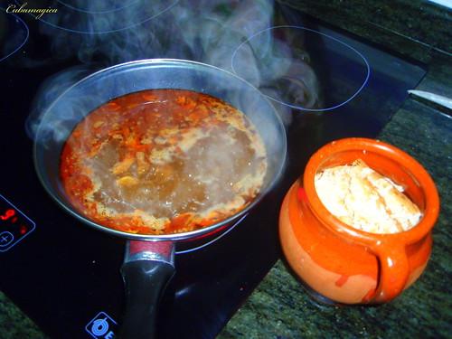 La sopa de ajo una receta