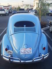 Bug Back (classic77) Tags: blue classic bug wagon parking beetle lot beatle 1956 volks 56 volkswagon