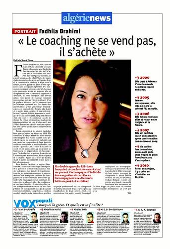 Portrait-Fadhila Brahimi-FB Associés-Algerie News-Coaching-dirigeant