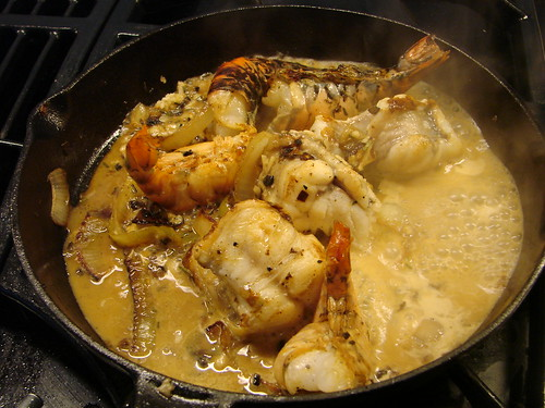 cooking the monkfish