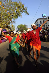 Carnival @ Goa  - Bare Foot Dancers Pound the Hot Streets with Rhythm Divine !! (Anoop Negi) Tags: world travel carnival blue girls red portrait people orange india color colour men green tourism girl festival photography for glasses photo amazing women essay media dancers place image photos gorgeous delhi indian bangalore goa creative picture culture traditions images best exotic vision human photograph hues journey barefoot po hait tradition mumbai journalism descalos panjim descalzos panaji scalzi piedsnus photosof ezee123 piedinudi bestphotographer imagesof anoopnegi jjournalism