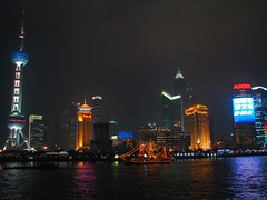 Yangtzi River, Shanghai, at night (Photo by Constantine Markides)