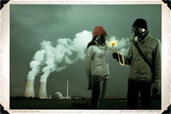The Nuclear Romance Couple (Poe Tatum) Tags: she life flowers boy flower love girl field hat rose clouds photoshop studio him hoodie glow sweet smoke surreal radiation nuclear romance stack her story reality romantic gasmask plasma sweatshirt he reactor radiated