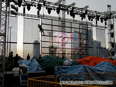 Setting up the stage