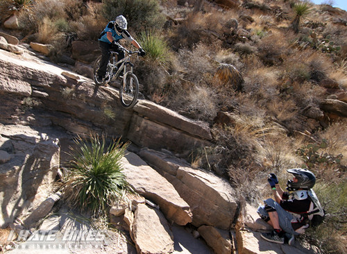 Jason van horn aims for the sweet spot on the rock landing