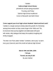 Vanities Press Release