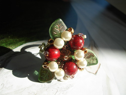 #BR10=Amandina   Beaded Ring SGD$35 (2) by you.