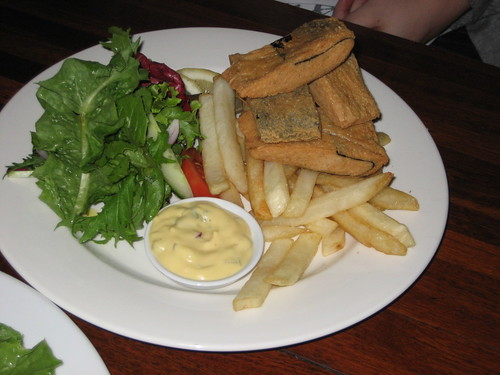 vegan fish and chips at ebc