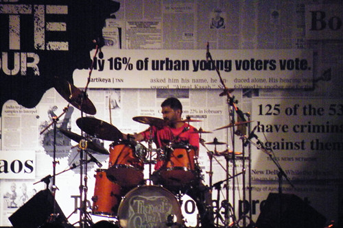 Rajeev on drums at IIT-Madras, Chennai