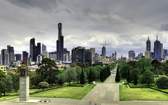 Melbourne from Shrine of Rememberance (Sarmu) Tags: city wallpaper sky urban building skyline architecture skyscraper highresolution downtown cityscape view skyscrapers widescreen australia melbourne victoria 1600 highdefinition resolution 1200 vic cbd hd wallpapers 2008 hdr eureka 1920 eurekatower vantage vantagepoint ws 1080 shrineofrememberance 1050 720p 1080p urbanity 1680 720 2560 sarmu