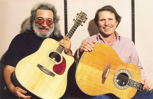 Jerry Garcia & Country Joe McDonald - backstage 3/22/89 Giftcenter, San Francisco
