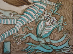 Meeting with the Council of Intelligences detail (Alberto J. Almarza) Tags: visions dreams secrets gatekeeper liminal blueandbrown shapeshifting paralleldimensions albertojalmarza councilofintelligences bluechairexperiments