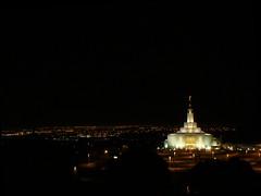 A Candle upon a Hill -- Church of Jesus Christ of Latter Day Saints Draper Utah Temple (R.T. Vance) Tags: city wedding night temple ut fisheye explore saltlakecity mormon overlook lds latterdaysaints churchofjesuschristoflatterdaysaints panasonicdmcfz8 rtvance rtvancephotography