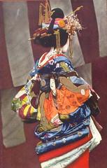 Tayuu seen from the side (noel43) Tags: japan japanese district prostitute prostitution redlight pleasure meiji yoshiwara taisho oiran tayu tayuu kamuro