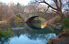 And Back to Gapstow (Tattooed JJ) Tags: nyc trees ny water reflections pentax centralpark manhattan bricks jjp gapstowbridge thepond k200d njjerseyityfrontdoorview
