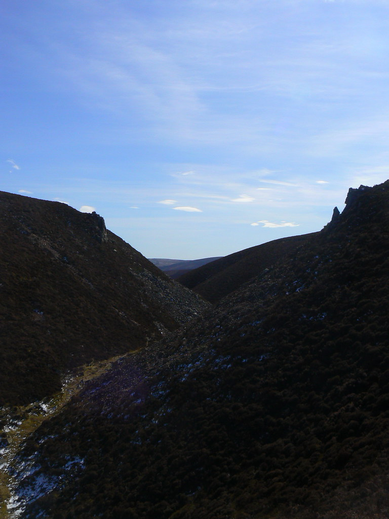 The gulley between Clachnaben and Mt Shade