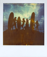 chicks with sticks (czuczy) Tags: kimi polaroid sx70 amy morocco lilly lil expired timezero cws chickswithsticks