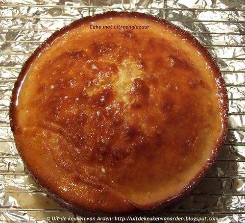 Cake met citroenglazuur