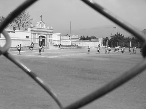 Kids playing soccer in Ciudad Vieja, Guatemala.