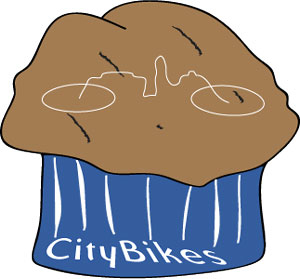 CityBikes cupcake logo