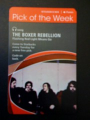 Starbucks iTunes Pick of the Week - The Boxer Rebellion - Flashing Red Light Means Go